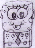 Spongetopf Babykopf