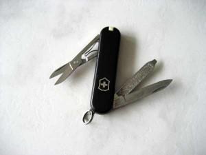 Kleines, schwarzes Taschenmesser