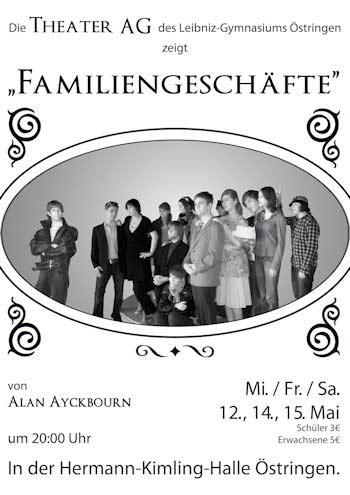 """""""Familiengeschäfte"""" aufgeführt von der Theater-AG des LGÖ"""