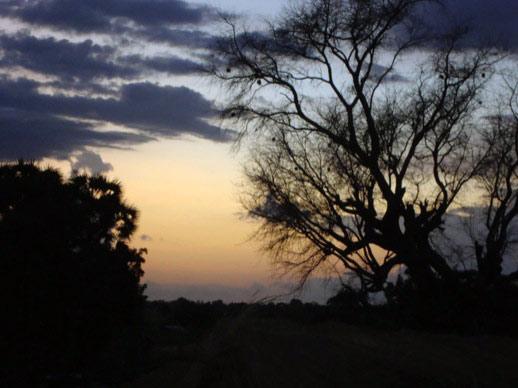 Sonnenuntergang in Gbeogo