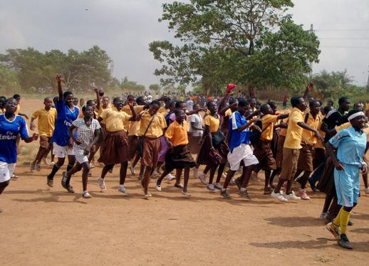 Freude über Fußball in Ghana