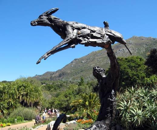 Statue Gepard und Springbok
