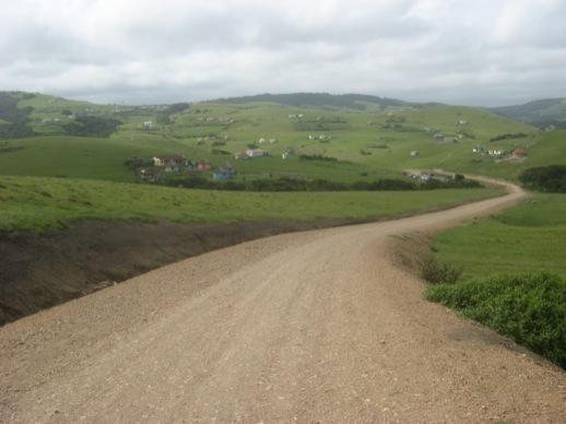 Blick auf einen Teil des Dorfes