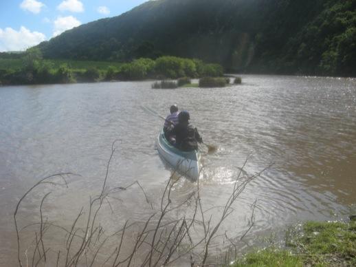 Kanu auf dem Xhora-Fluss