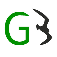 Green Bird, quadratisches Logo