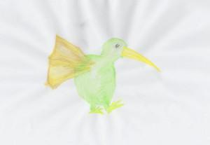 Aquarell-Kiwi