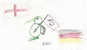 Kiwi goes England!
