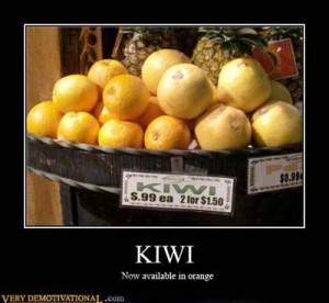 Kiwi in Orange