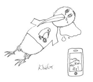 WM-Trauer-Kiwi – iPhone 4 als Trost?