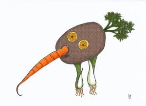 Gemüse-Kiwi