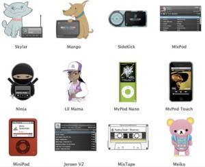 Eine kleine Auswahl der Designvorlagen bei Mixpod.com