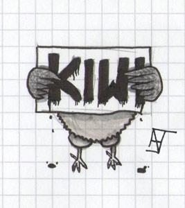 Kiwi-Schild