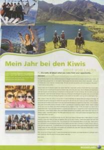 Mein Jahr bei den Kiwis