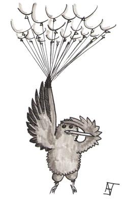 Ein Vogel lernt fliegen