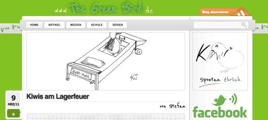 Update des Aussehens von The Green Bird
