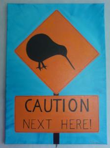 Kiwi Caution Next Here