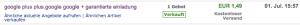 Google Plus Invite bei eBay kaufen