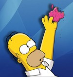 Homer Eats Apple Donut
