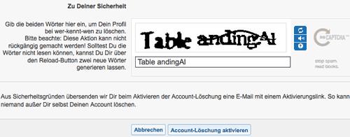 Wer-Kennt-Wen.de – Screenshot vom Löschvorgang