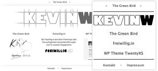 Neue kevinw.de-Seite – Responsive Webdesign