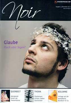 """Noir 23-Cover, Thema """"Glaube"""""""
