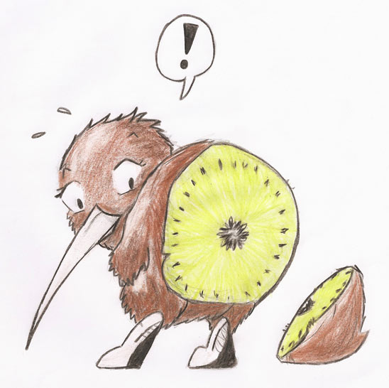 Kiwi - Hintern ab