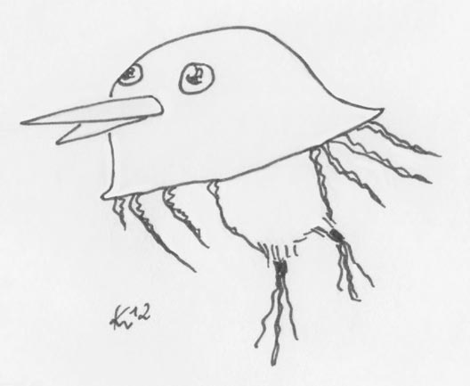 Nesselkiwi aka Kiwi-Qualle