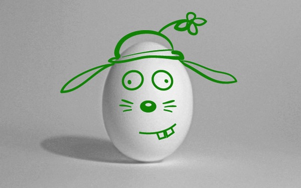 Frohe Ostern - Osterhase/Osterei 2013