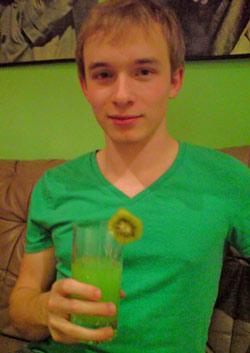 "Cocktail ""The Green Bird"""