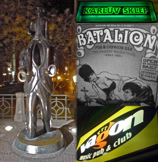 Prag: Batalion, Kafka Statue, Vagon, Karluv Sklep