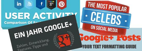 4 Infografiken zu Social Networks und Google+