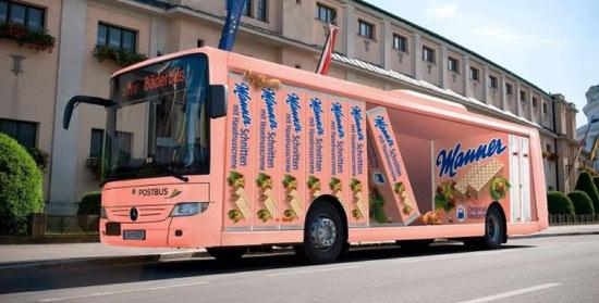 Manner Buswerbung