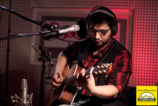 John Melo im Tonstudio