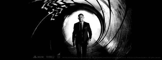Daniel Craig alias James Bond 007 im Kinofilm Skyfall