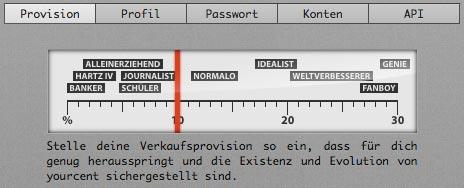 yourcent-Verkaufsprovision