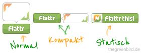 """Das waren die """"neuen"""" Flattr-Buttons im November 2010"""