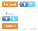 Neuste Flattr-Buttons mit Share-Funktion