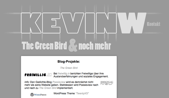 kevinw.de bis zum 10. Dezember 2011