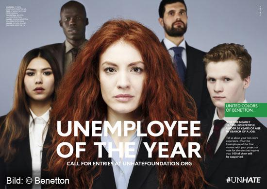 Benetton sucht Arbeitslosen des Jahres 2012